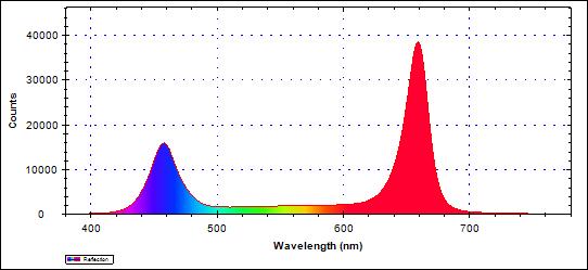 図3 グロースライトBタイプ波長