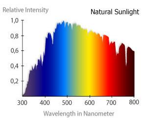 図6 太陽光波長